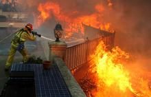 Shackey wildland fire CA.