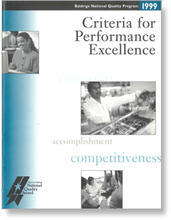 1999 Baldrige Criteria for Performance Excellence booklet cover