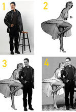 Image 1: Hany.Image 2: Marilyn Monroe.Image 3 & 4: Hany & Marilyn (Digital Manipulation)