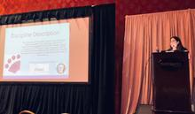 Lora Sims, Chair of OSAC's Facial Identification Subcommittee, sharing committee updates at the 2019 IAI Conference.