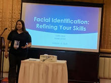 Lora Sims, Chair of OSAC's Facial Identification SC, leading a facial identification workshop at the 2019 IAI Conference.