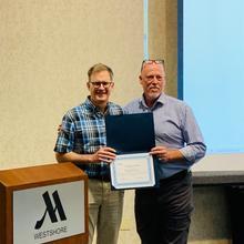 OLSS Member, Greg Davis, being recognized at the 2019 OLSS Meeting