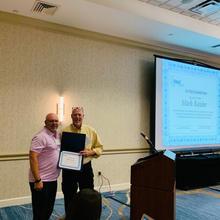 OLSS Member, Mark Keisler, being recognized at the 2019 OLSS Meeting