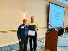 OLSS Member, Sue Hetzel, being recognized at the 2019 OLSS Meeting