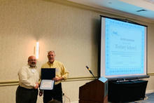 OLSS Member, Rodney Schenck, being recognized at the 2019 OLSS Meeting