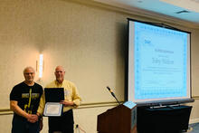 OLSS Member, Toby Wolson, being recognized at the 2019 OLSS Meeting