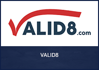 VALID8 Logo. Valid8 is an award recipient of the PSCR Mission Critical Voice Test Equipment funding opportunity.