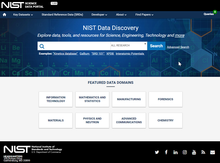 NIST Science Data Discovery Portal