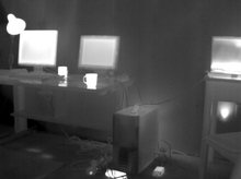 Thermal image of an office scene