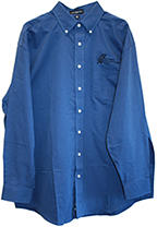 Men's Oxford Shirt long sleeve dark blue