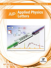 Cover: Applied Physics Letters 100(26). Copyright (2012) The American Institute of Physics