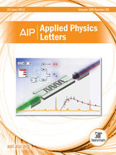 Applied Physics Letters 100(26) cover - small