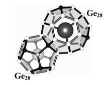 Cs8Na16Ge136-xCux polyhedra framework