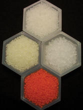 Photo of polymer resin pellets