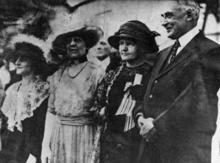 Marie Curie with President and Mrs. Harding and Mrs. W.B. Meloney