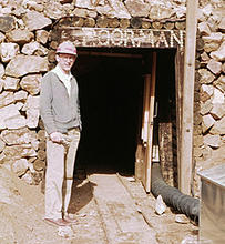 Jan Hall at Poorman's Relief Gold Mine.