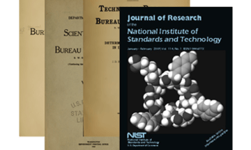 journal of research of nist jres archived volumes
