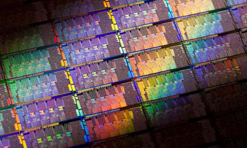 multicolor image of an intel 2nd generation core microprocessor