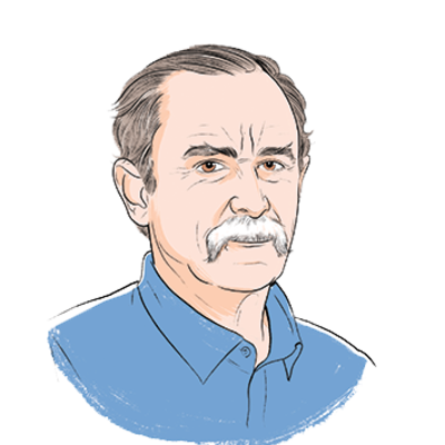 illustration of Dave Wineland - Transparent Background