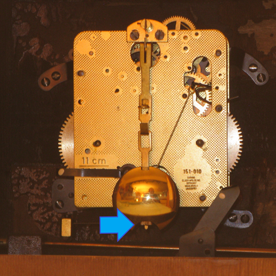 back of pendulum clock