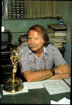 Jim Jespersen with the Emmy