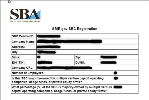 SBC or SAM Registration example