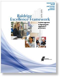 2015-2016 Baldrige Excellence Framework Cover Photo