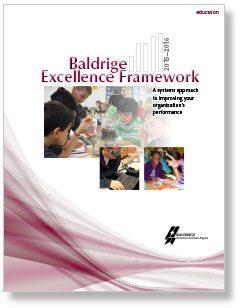 2015–2016 Baldrige Excellence Framework (Education) Photo Cover