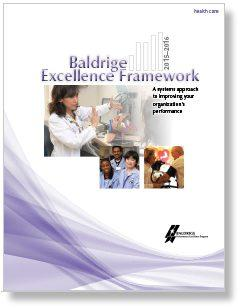 2015-2016 Baldrige Excellence Framework (Health Care) Cover Photo