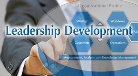 Baldrige Executive Fellow pointing to Leadership Development