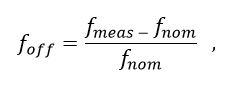frequency offset equation