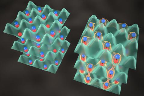 Illustraton of JILA's quantum crystals