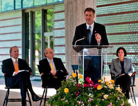 Speakers at the 2011 dedication of Brockman Hall at Rice University