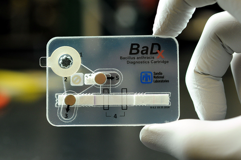 pocket-sized anthrax bacteria detector device