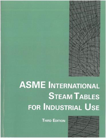 Cover of the ASME International Steam Tables for Industrial Use, Third Edition