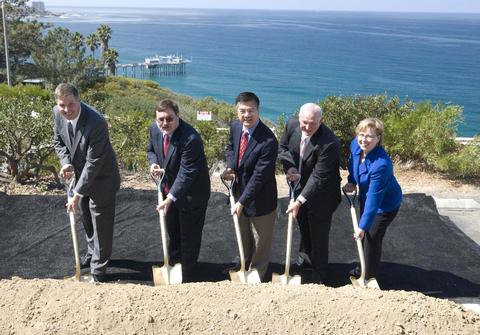 Groundbreaking at the Scripps Oceanography campus in La Jolla, California.