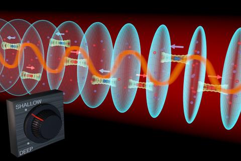 Illustration of strontium lattice atomic clock