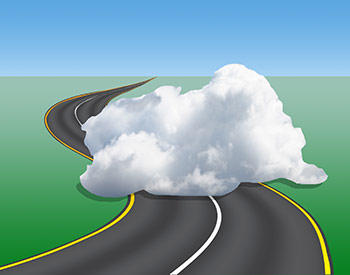 cloud on road