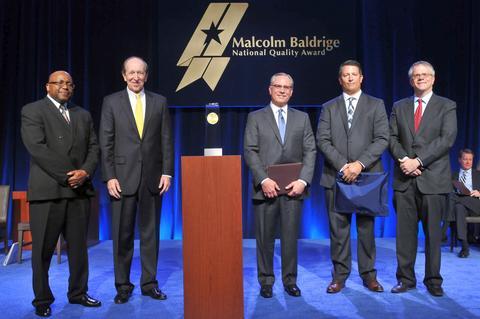 Elevations Credit Union Photo - Baldrige Award Ceremony for 2014 Recipients