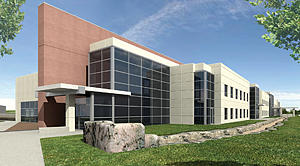 Architectural rendering of the NIST Boulder Building 1 Extension.