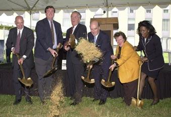 Federal and local officials break ground for the new Advanced Measurement Laboratories of the National Institute of Standards and Technology.