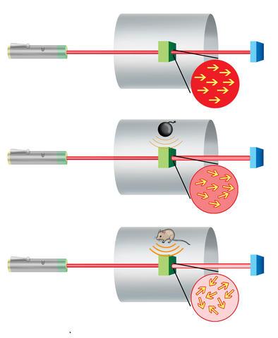 Illustration of NIST's new mini-magnetometer