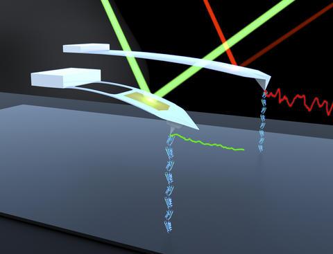 Illustration of AFM probes