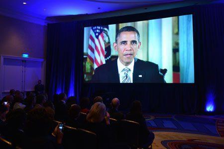 Screenshot of President Obama Video at 25th Baldrige Ceremony