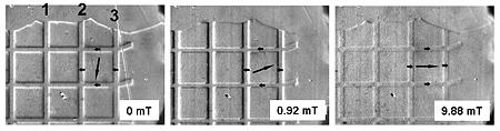 Magnetic domain images created used NIST MOIF technique