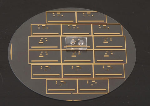 Close up photograph of the NIST micro microwave oven showing its two major components