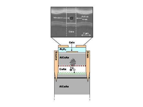 illustration of NIST's modified field-effect transistor