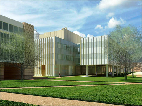 Artist rendering of the planned new Brockman Hall for Physics at William Marsh Rice University, Houston, Texas.