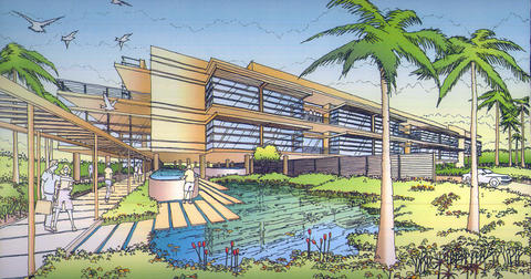 Artist rendering of planned building at the new SUSTAIN facility