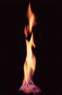 Photo of burning hydrate